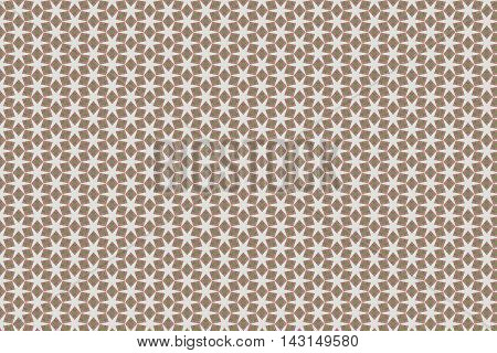 Six point star background pattern, brown, tan, Ivory. Perfect for multimedia presentation.