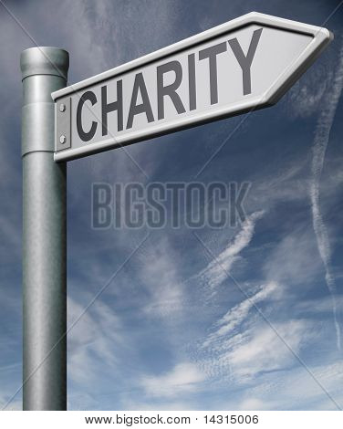 Charity Road Sign Clipping Path
