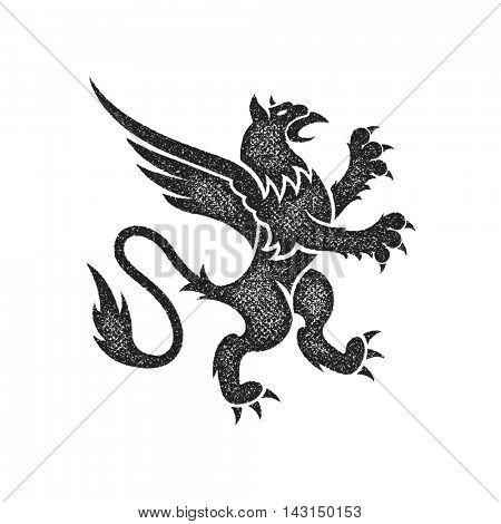 Royal lions silhouette for heraldic design. Jpeg version.