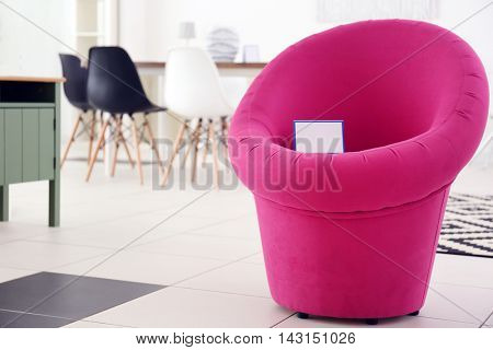 Contemporary chair for sale in furniture store