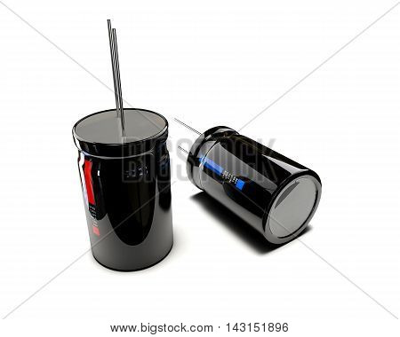 3D Illustration Of Electrical Components On White Background