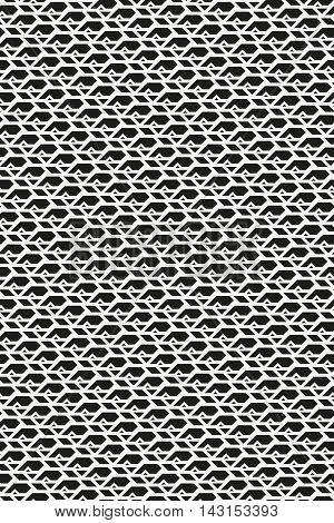 Monochrome geometric endless texture. Sharp repetitive ornament. Seamless pattern for a background.