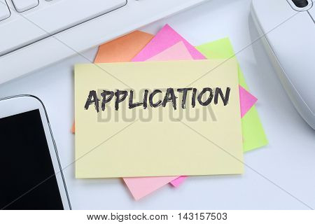 Application Apply Jobs, Job Working Recruitment Employees Business Concept Desk