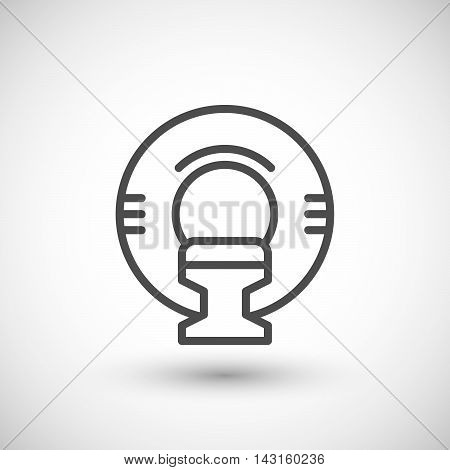 Magnetic resonance imaging line icon isolated on grey. Vector illustration
