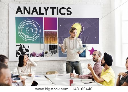 Analytics Technology Cyberspace Network Concept