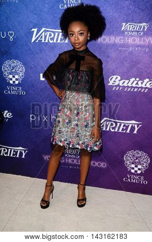 LOS ANGELES - AUG 16:  Skai Jackson at the Variety Power of Young Hollywood Event at the Neuehouse on August 16, 2016 in Los Angeles, CA