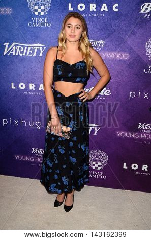 LOS ANGELES - AUG 16:  Lia Marie Johnson at the Variety Power of Young Hollywood Event at the Neuehouse on August 16, 2016 in Los Angeles, CA