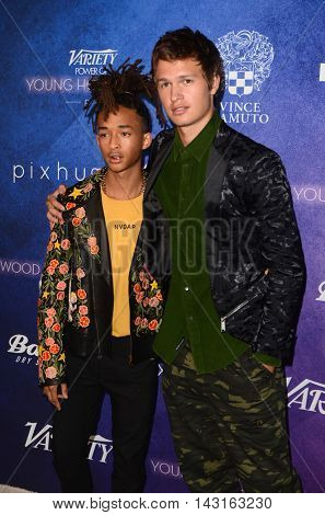 LOS ANGELES - AUG 16:  Jaden Smith, Ansel Elgort at the Variety Power of Young Hollywood Event at the Neuehouse on August 16, 2016 in Los Angeles, CA