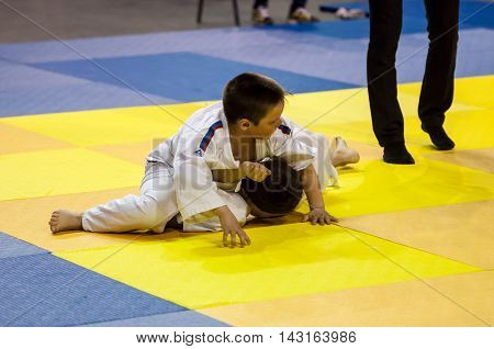 Orenburg, Russia - 16 April 2016: Youth Competitions In Judo
