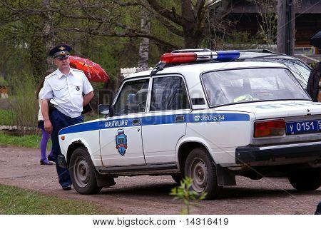 Traffic police patrol car