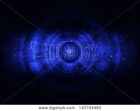 Abstract blue futuristic digital technology background, Vector illustration
