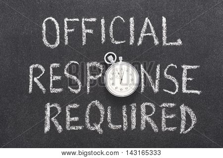 Official Response Req