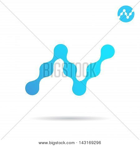 N letter logo 2d vector icon isolated on white background eps 10