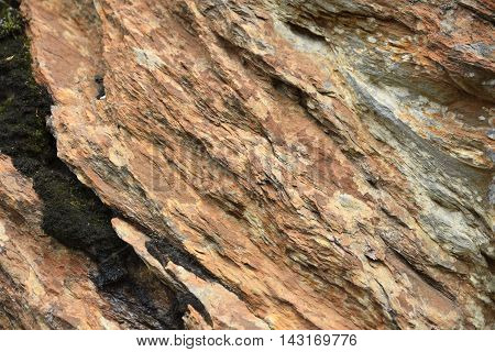 Close up of stone with a lot of iron ore picture from the North of Norway.