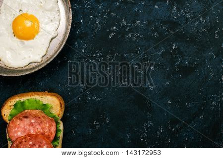 Fried Egg And Sandwich