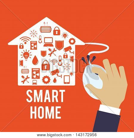 mouse smart house home technology app icon set. Flat and Colorful illustration. Vector illustration