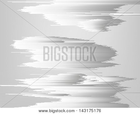 Glitched linear monochrome gradient structure. Digital metallic storm clouds. Modern abstract background. Element of design for a poster cover invitation business card postcard or web.