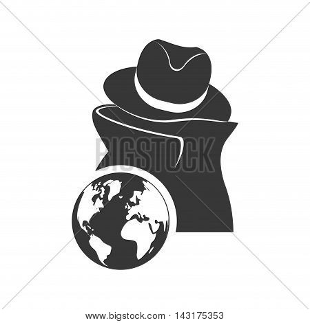 thief planet money financial commerce icon. Flat and Isolated design. Vector illustration