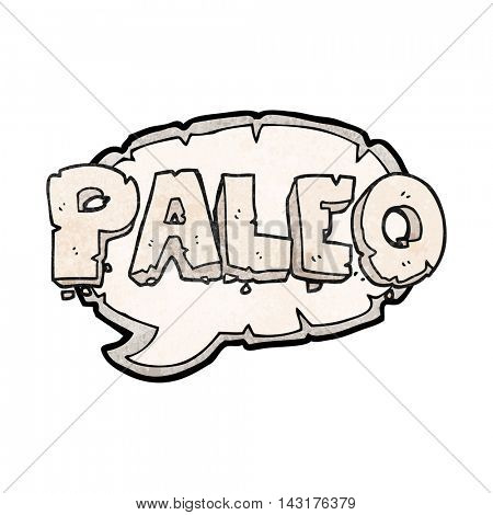 paleo freehand drawn texture cartoon sign