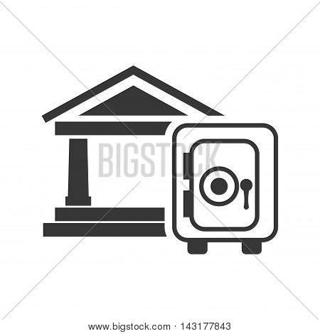 bank strongbox money financial commerce icon. Flat and Isolated design. Vector illustration