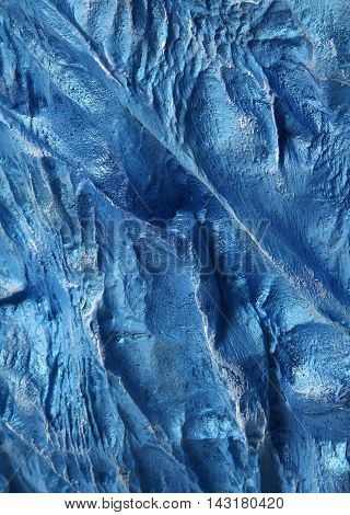 Blue Handmade metal texture background with aged effect