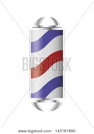 flat design barber pole icon vector illustration