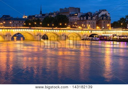 PARIS FRANCE - MAY 07 2015: The Pont Neuf (