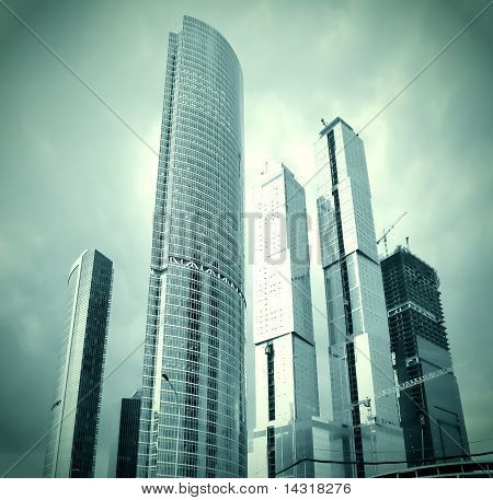 Glass Skyscrapers In Gale