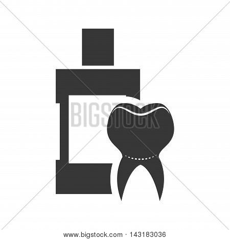 teeth mouthwash dental medical care icon. Flat and Isolated design. Vector illustration