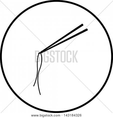 chopsticks and chinese noodle symbol