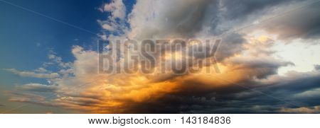 Dramatic sky with stormy clouds Nature composition