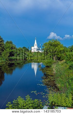 Beautiful Landscape With Saints Cosmas And Damian Church (1725), Suzdal,