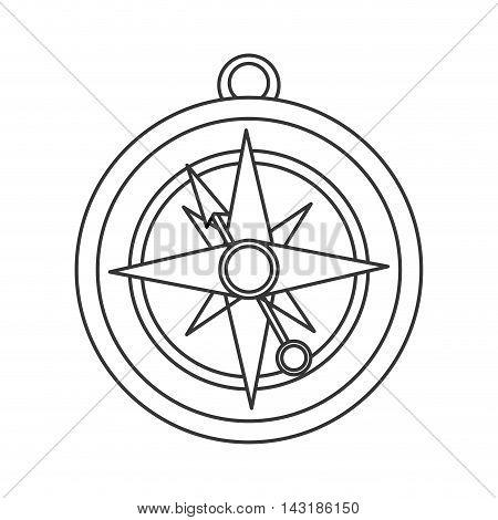 flat design navigation compass icon vector illustration