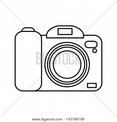 flat design photographic camera icon vector illustration