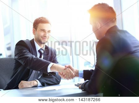 business people meeting in a modern office