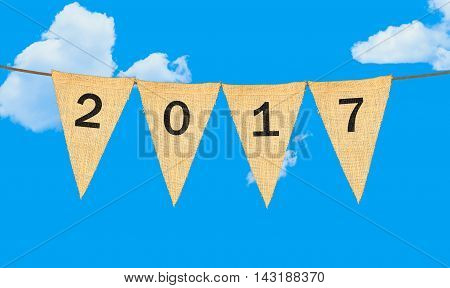 Individual Cloth Pennants Or Flags With 2017