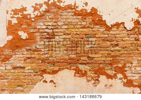 Texture Old Brick Wall Plaster
