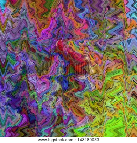 Abstract coloring background of the abstract gradient with visual illusion,cubism and wave effects