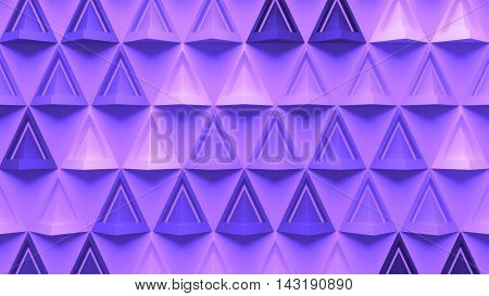 3D Abstract Background With Repeating Pyramid Forms