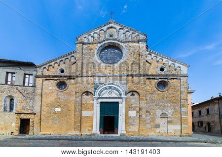 The cathedral of Santa Maria Assunta in Volterra Tuscany Italy.