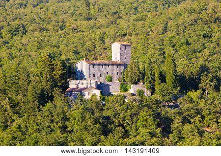 Siena province Italy - August 6 2016: The Castello di Albola in the Chianti region.
