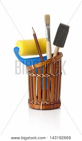 Sponge brushes, foam brush and roller art set