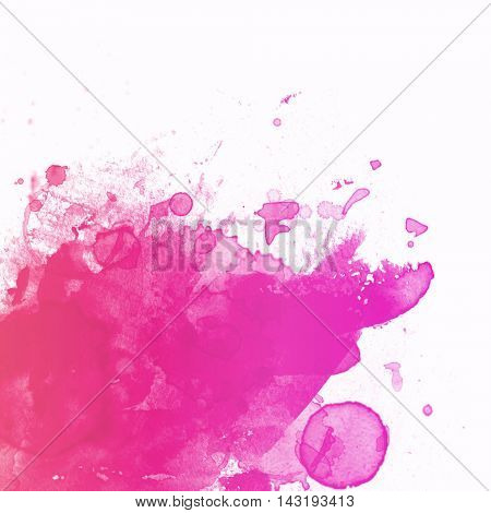 Purple abstract paint splat - with white space for design