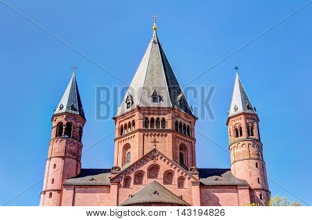 St. Martin's Cathedral in the old town of Mainz Germany