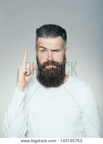 Bearded Man With Gesture