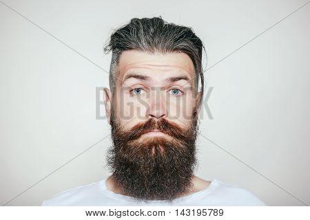 Surprised Bearded Man