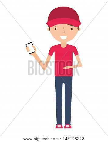 man delivery worker isolated icon vector illustration design