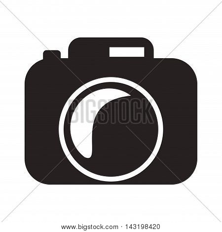 camera gadget technology silhouette icon. Flat and Isolated design. Vector illustration