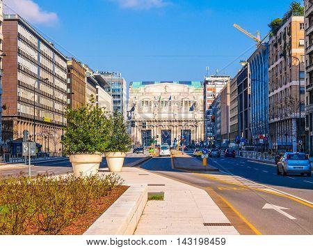 Stazione Centrale Milan (hdr)