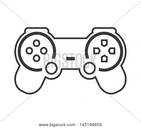videogame control game joystick silhouette icon. Flat and Isolated design. Vector illustration